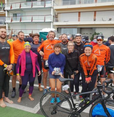 La team CAHRA et Le Triathlon Club Nantais au Tri-Relais Audencia
